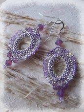 Orecchini Istanbul viola-argento