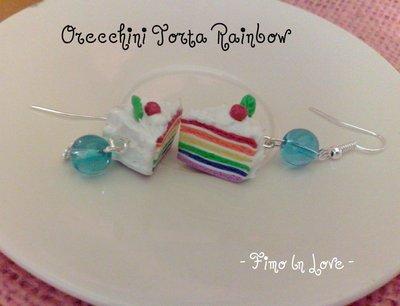 Orecchini torta Arcobaleno Rainbow