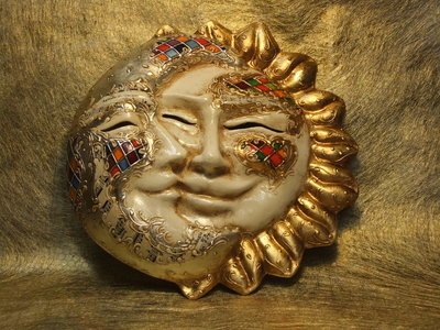 Sole luna in cartapesta