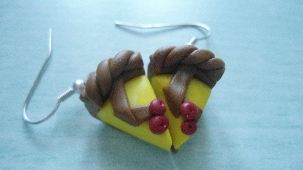 orecchini crostatine alla crema