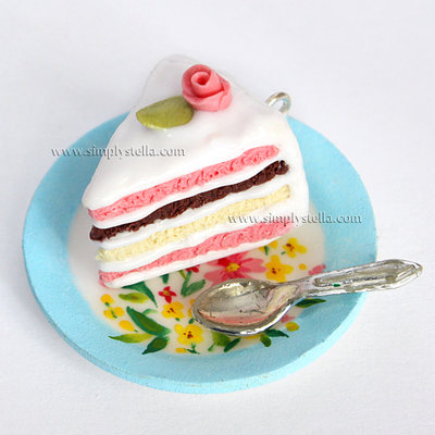 Shabby chic Cake Charm - White