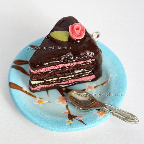 Shabby chic Cake Charm - Chocolate