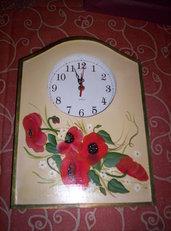 orologio con papaveri