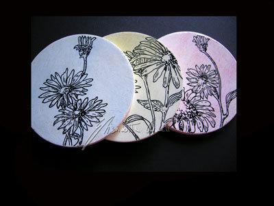 sottobicchieri vintage floreale
