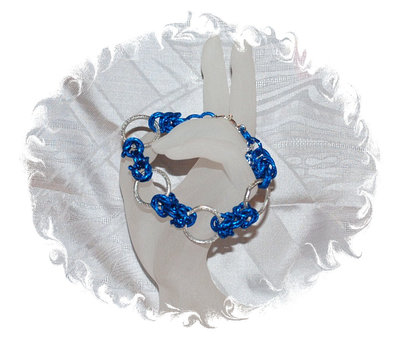 "Bracciale Chainmaille ""Blue"""