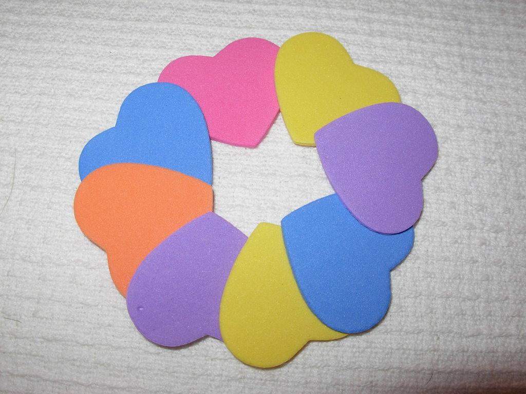 lotto 8 cuori medio/grandi in gomma morbida