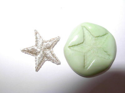 stampo stella in gomma siliconica