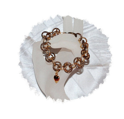 "Bracciale Chainmaille ""Gold heart"""