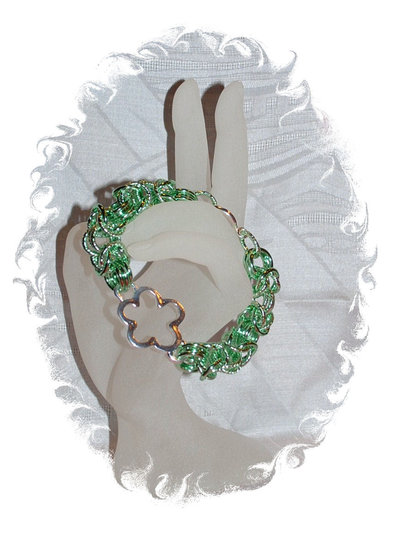 "Bracciale Chainmaille ""Green"""