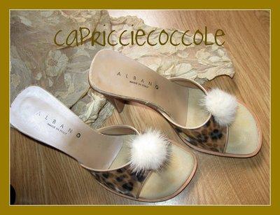 clip per scarpe visone platino