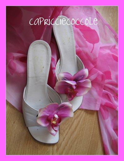 clip per scarpe orchidea calzature
