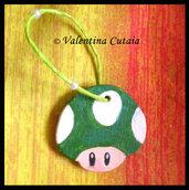 "Portachiavi ""fungo verde"" Super Mario Bros"