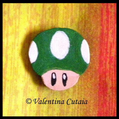 "Calamita ""Fungo verde"" (Super Mario Bros)"