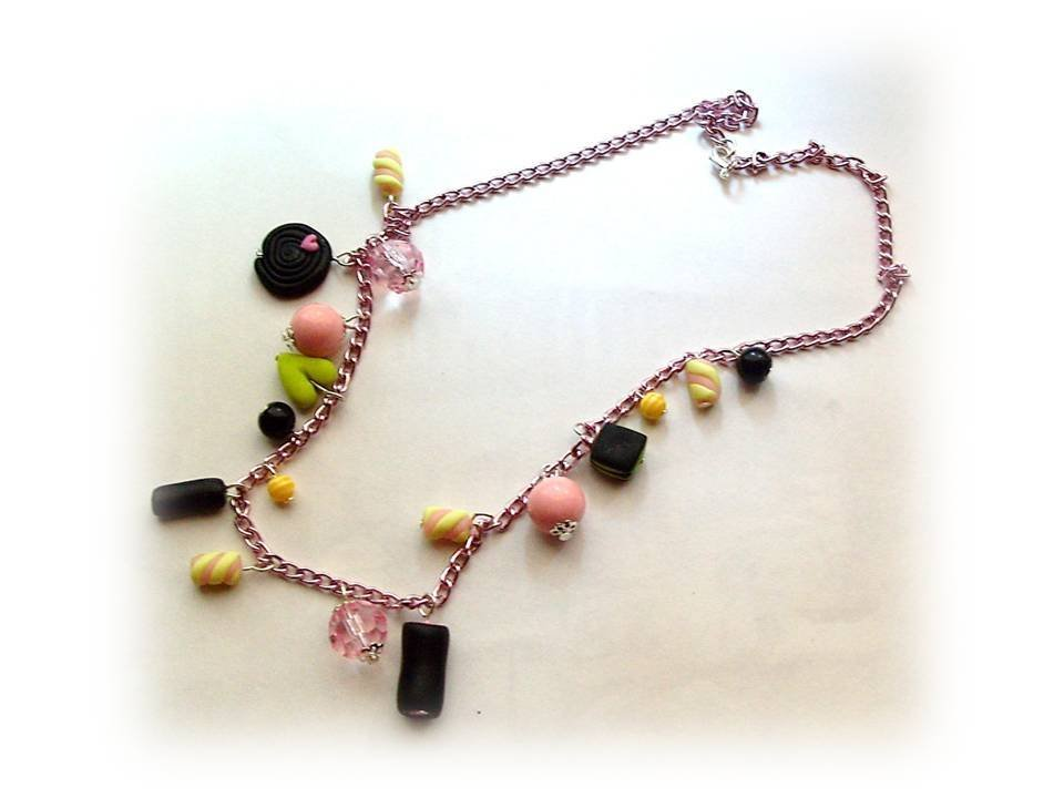 Collana liquirizie e marshmallows-fimo