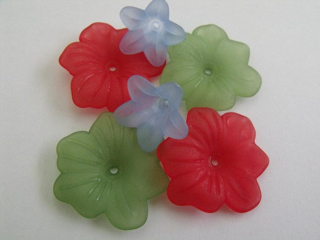 n° 6 fiori lucite