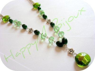 Collana Lunga Verde