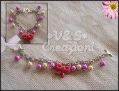 Braccialetto fiocco e perle