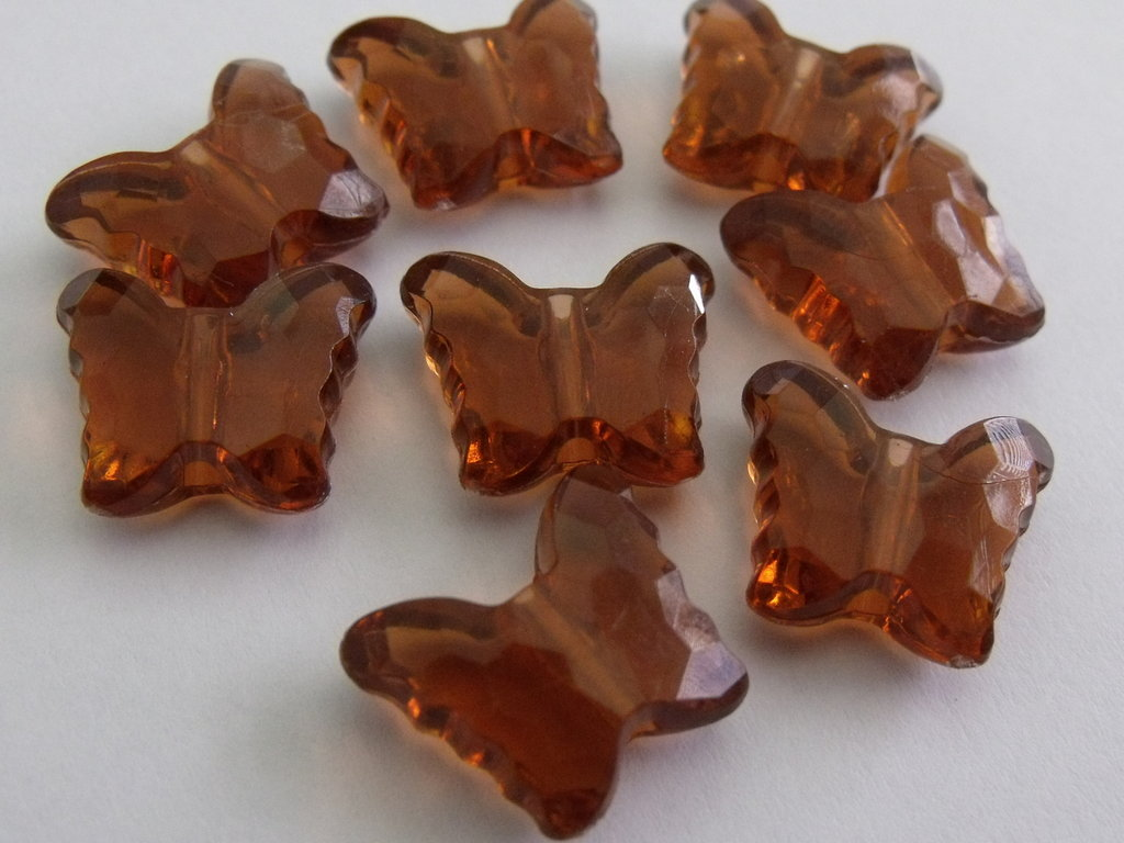 8 farfalline in plastica