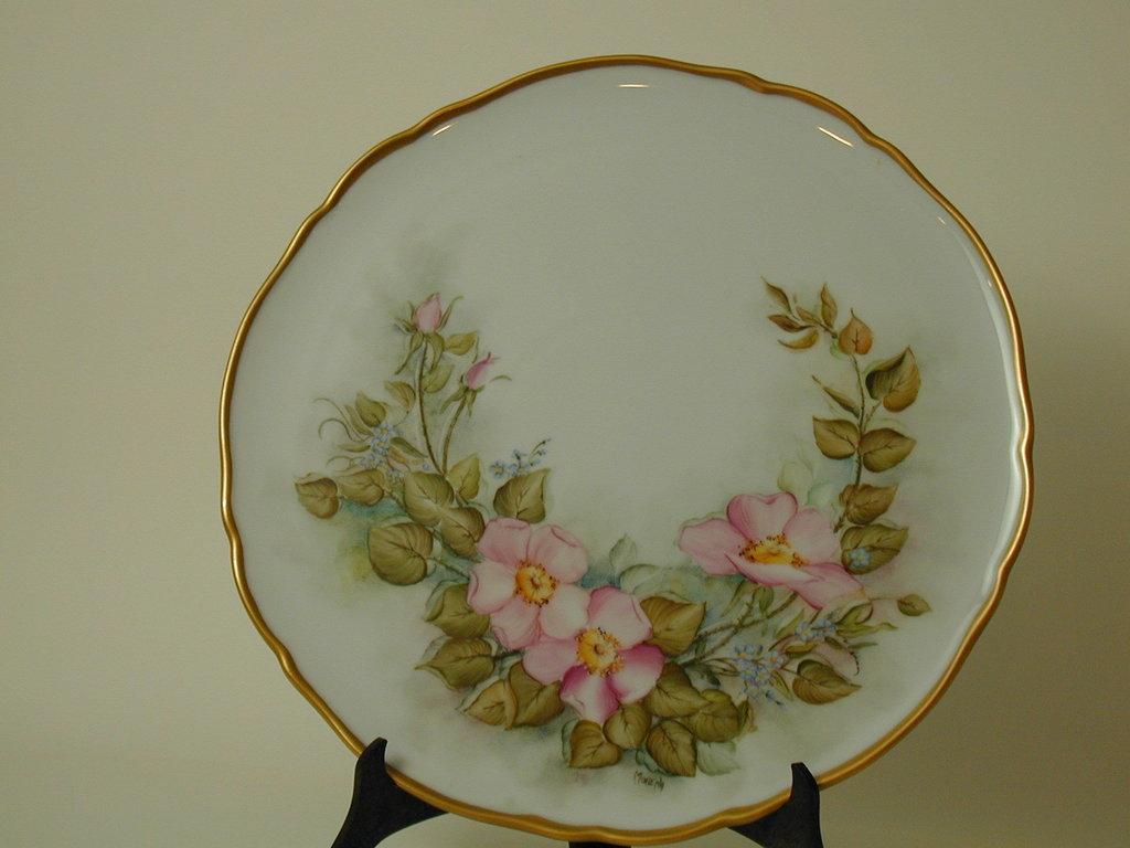 piatto porcellana dipinto a mano