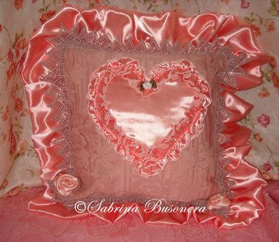 Cuscino elegante rosa antico
