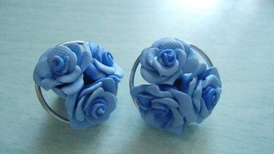orecchini tris roselline