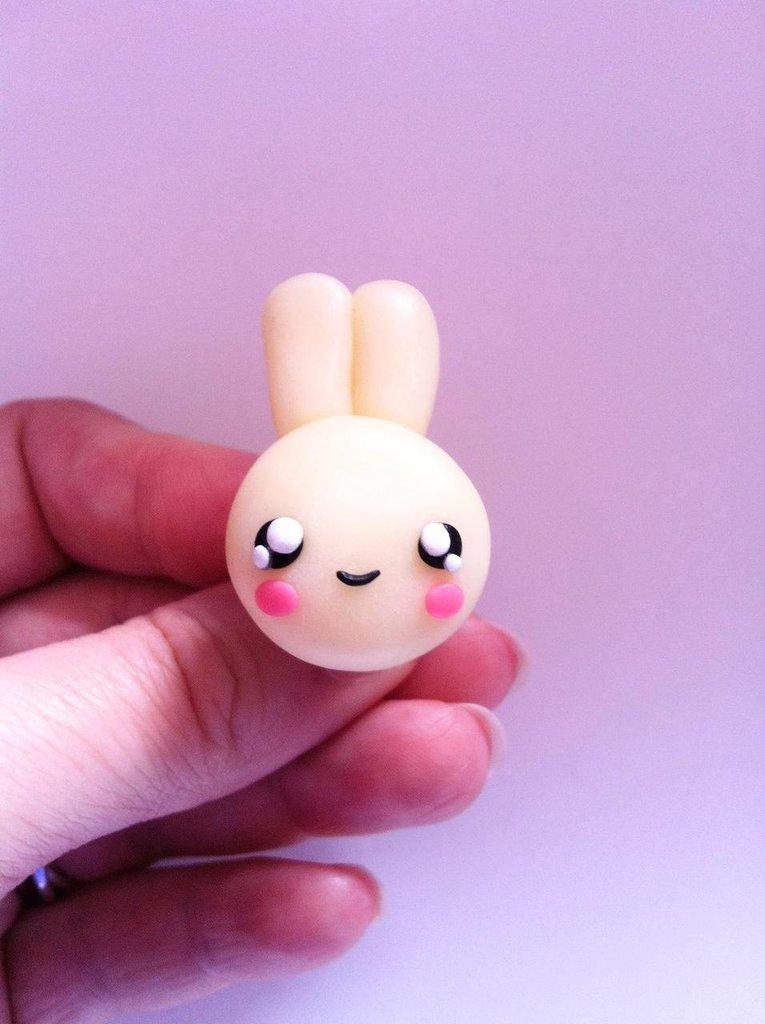 Coniglio bianco kawaii