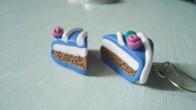 orecchini tortine mirtillo panna cioccolato