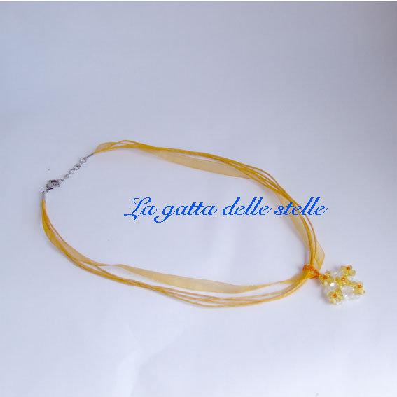 collana organza gialla