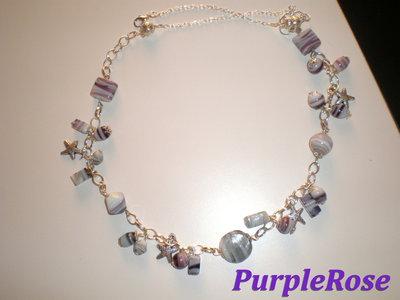 Collana Stelle marine e perle striate