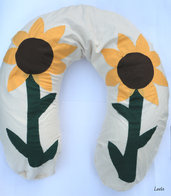 "Cuscino Allattamento - ""Make it Fun"" Girasoli"