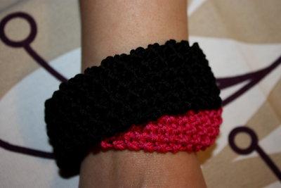 bracciale in cotone bicolore