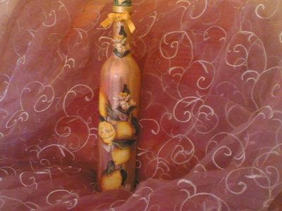 Bottiglia dècoupage