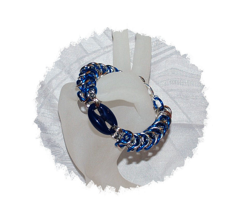 "Bracciale Chainmaille ""Blue Marine"""