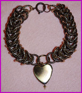"Bracciale Chainmaille ""Bronze heart"""