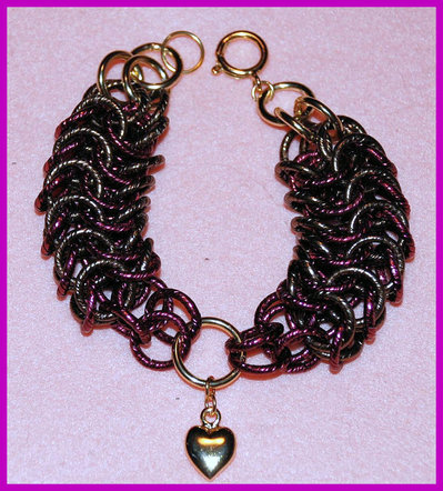 "Bracciale Chainmaille ""Little heart"""