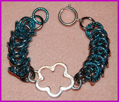 """Bracciale Chainmaille """"Silver flower"""""""