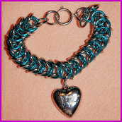"Bracciale Chainmaille ""Silver heart"""