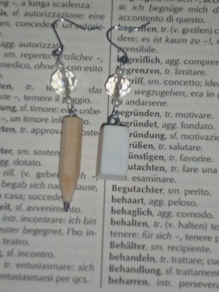 orecchini  Matita&Gomma