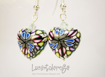 Orecchini a cuore/ heart shaped earrings