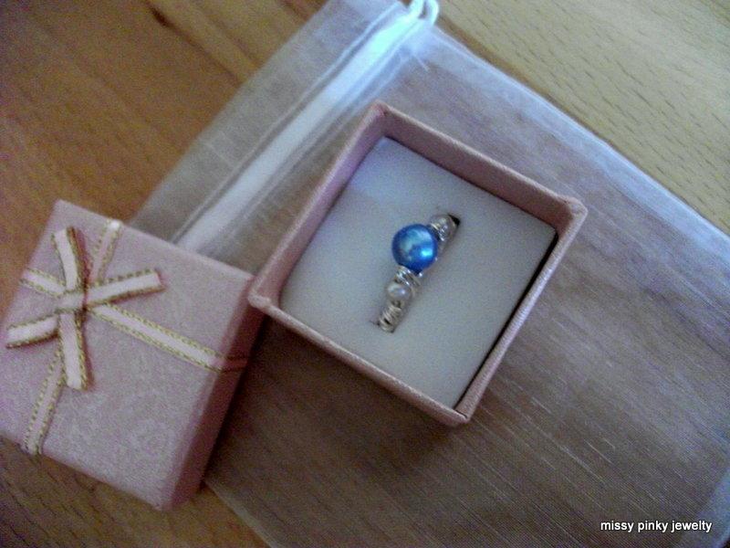 Anello argento perla di fiume snake completamente a mano Handmade