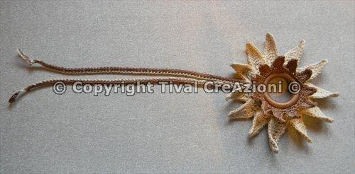 Collana girasole bicolore