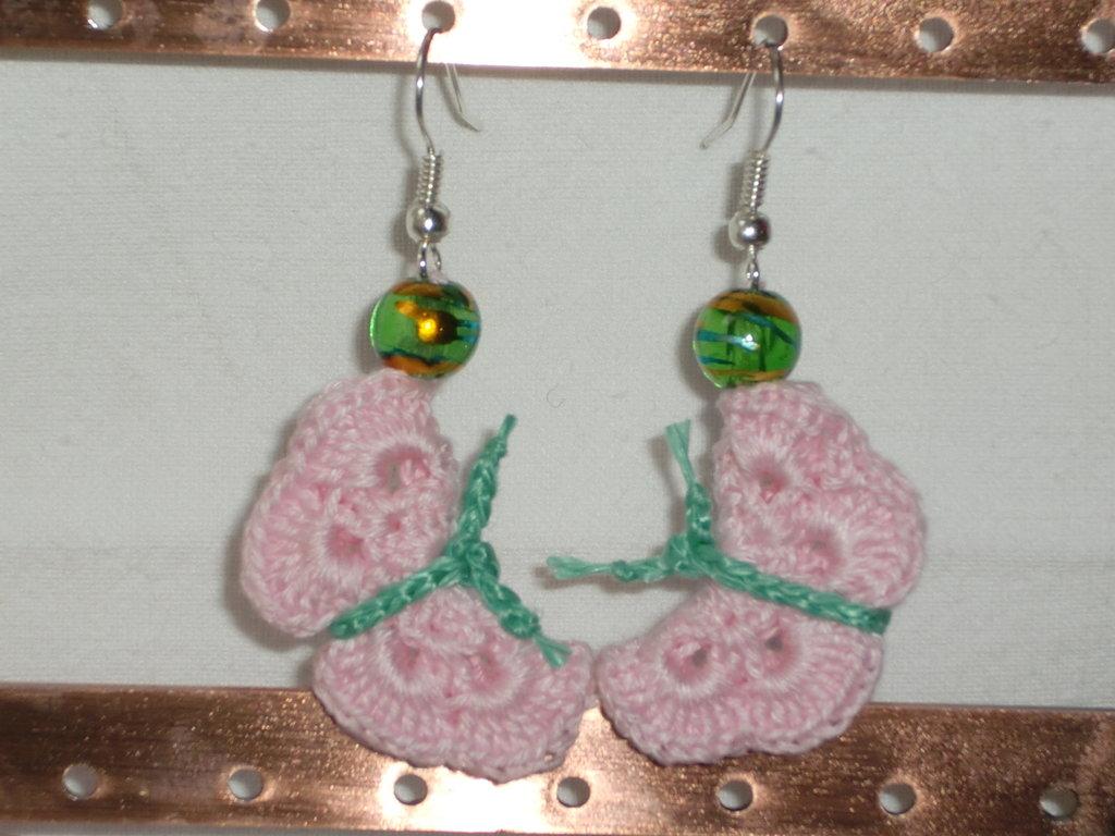 Monachelle farfalle rosa