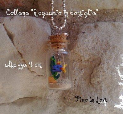 """Collana """"Acquario in bottiglia"""""""