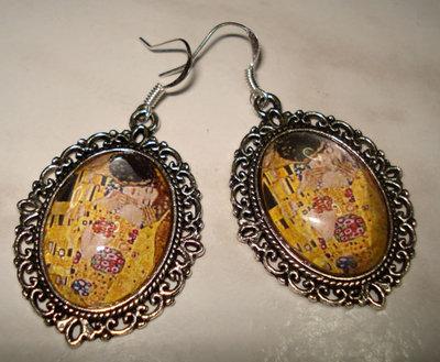 Orecchini cameo Klimt