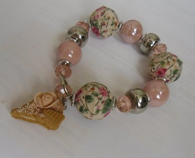 bracciale perle in stoffa