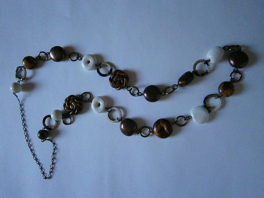 collana lunga perle in fimo