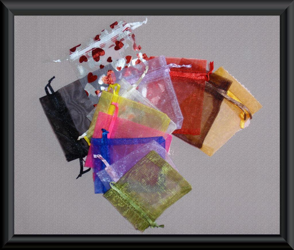 6 PZ SACCHETI 7x9 ORGANZA mix colore
