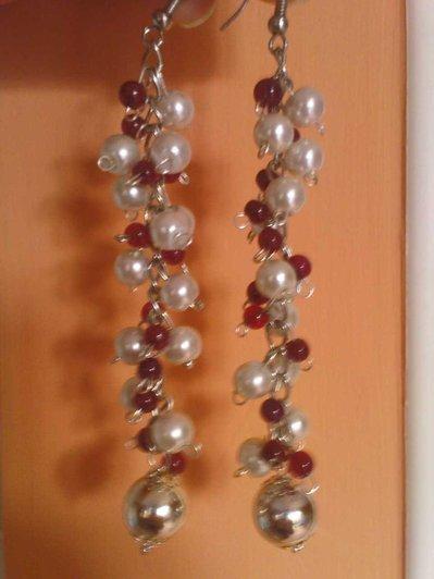 Orecchini perle e granati