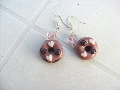orecchini ciambella con cuoricini