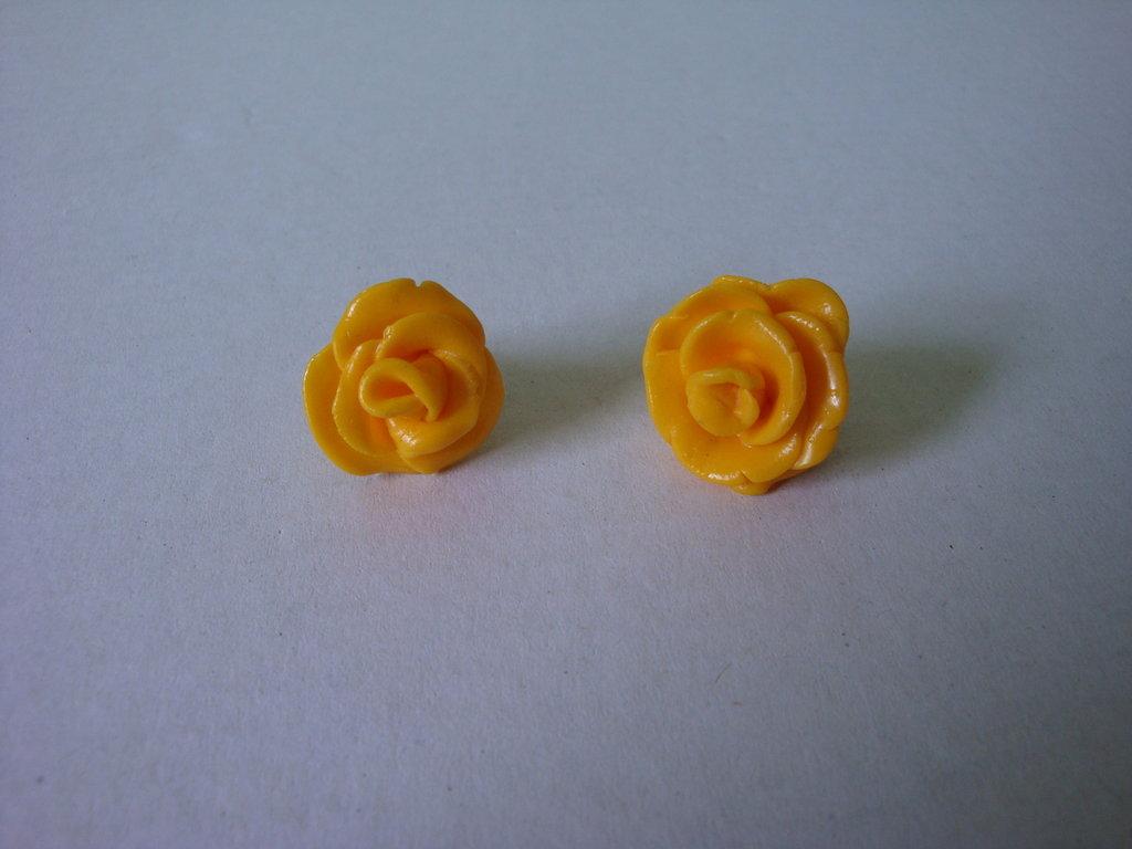 orecchini rosa gialla